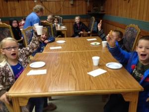 Kindergartners enjoying a fresh veggies snack during Farm to School week.